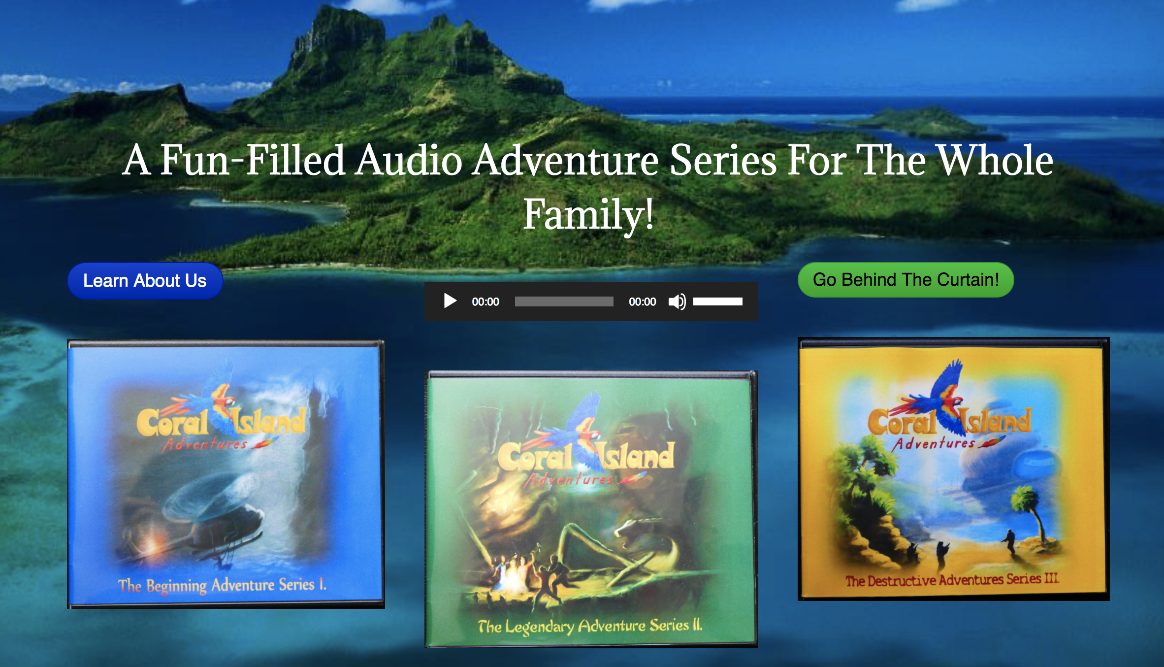 Website header image for Coral Island Adventures
