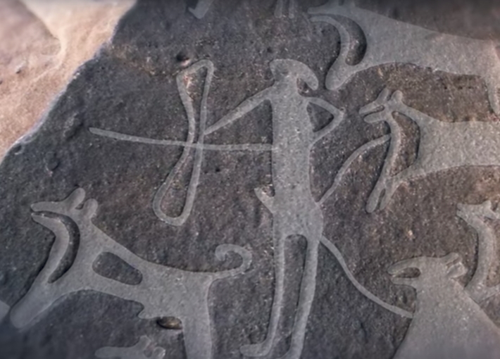 Earliest known depiction of dogs shows them on leashes