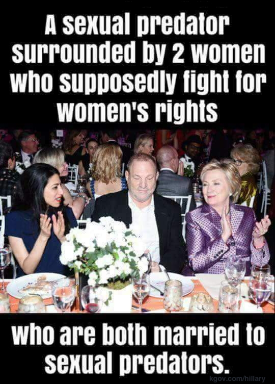 Harvey, Hillary, and Huma: support groupies