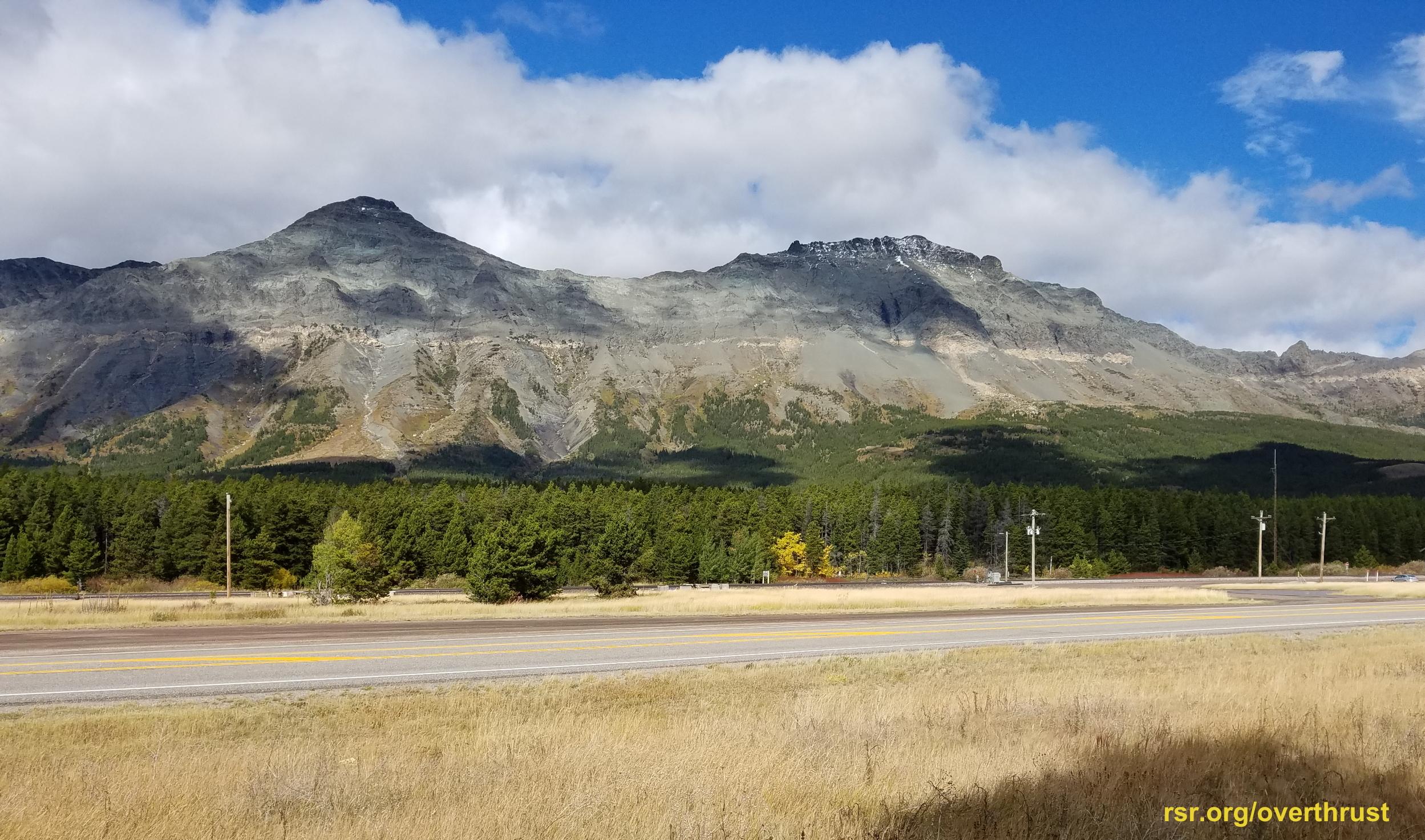 Lewis Overthrust Fault just outside of Glacier National Park
