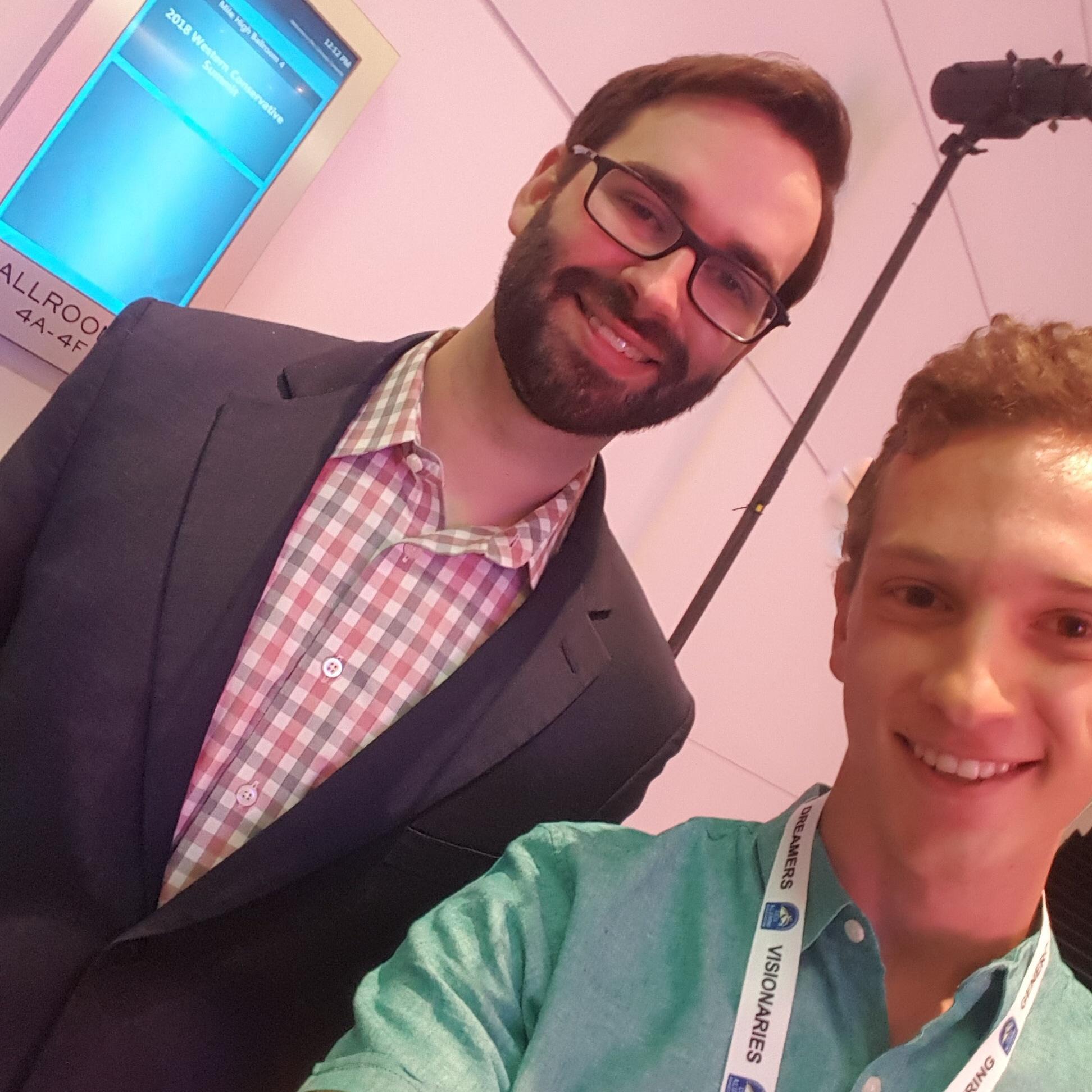 Matt Walsh with BEL associate producer Dom Enyart