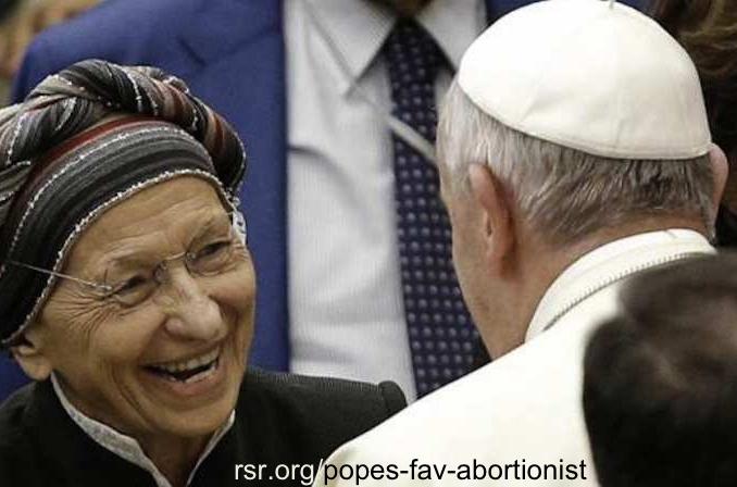 Pope Francis' favorite abortionist Emma Bonino
