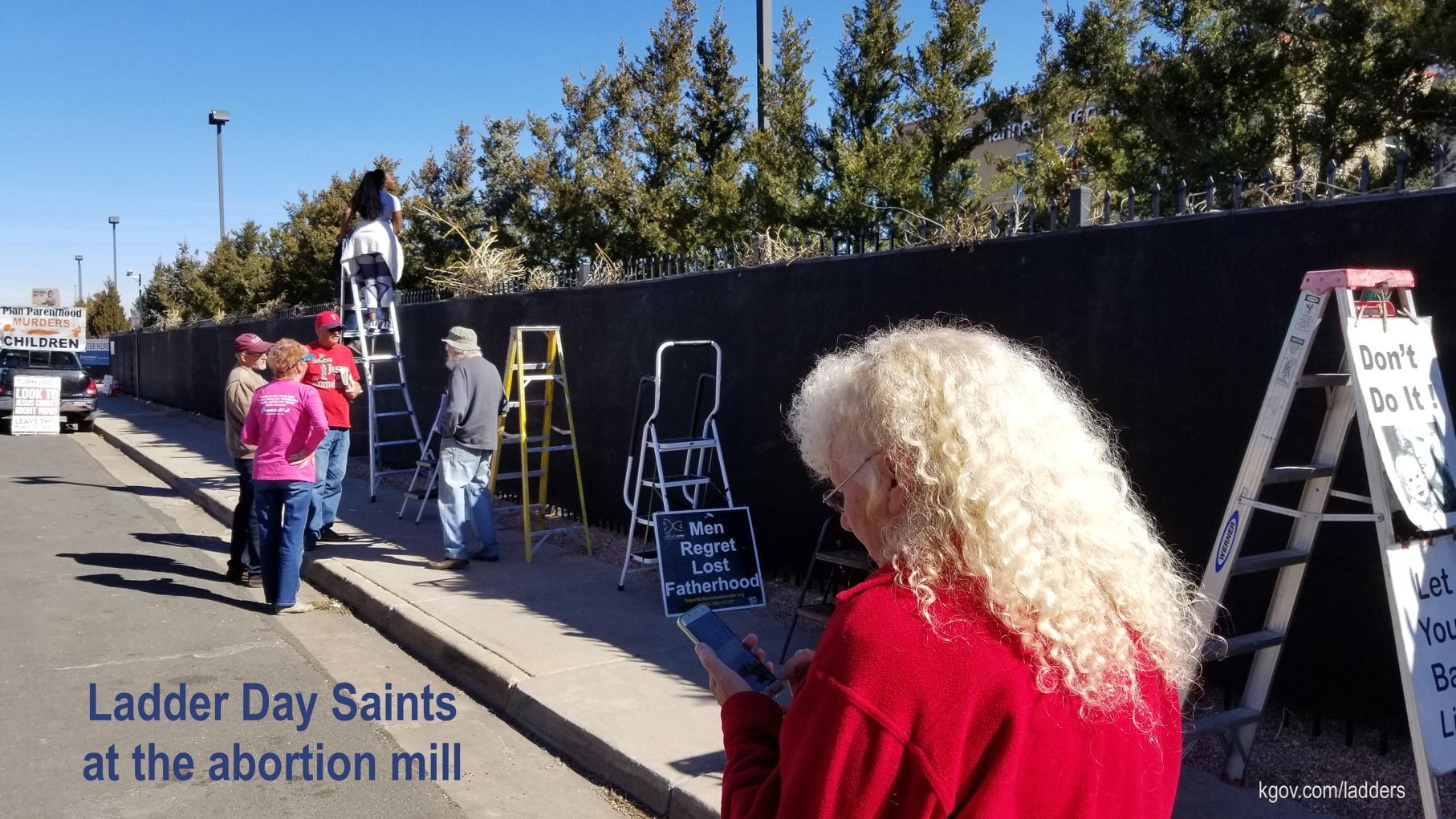 The day after Denver police charged abolitionist Ken Scott with ladder-blocking Planned Parenthood's sidewalk