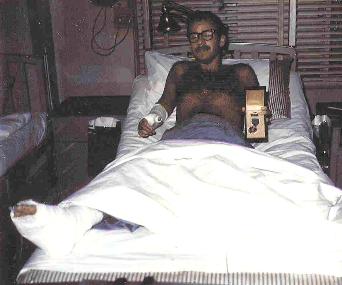 NCO Richard Hogue hospitalized after being wounded 1/27/1970