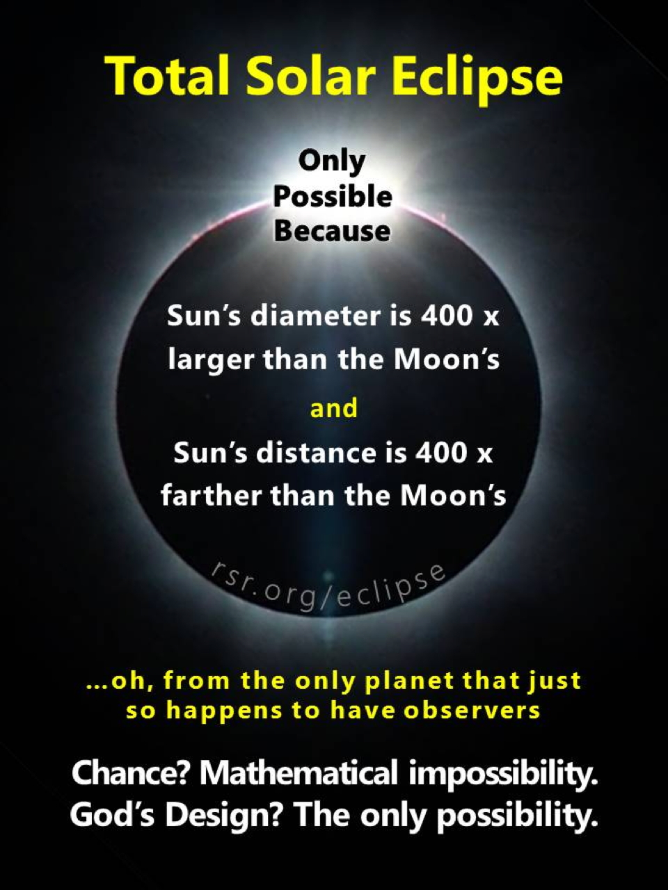 Total solar eclipse: How's it possible? RSR meme