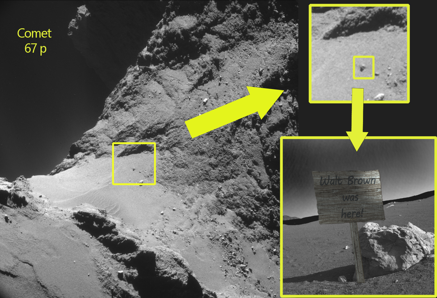 Walt Brown was here comet 67p