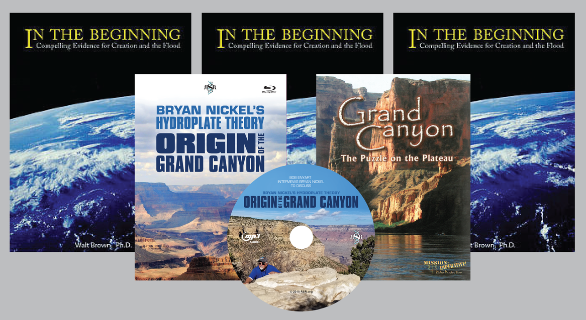 RSR's Grand Canyon Special: 3 In the Beginning books, the Nickel and Snavely videos, and our Grand Canyon series on an audio CD!