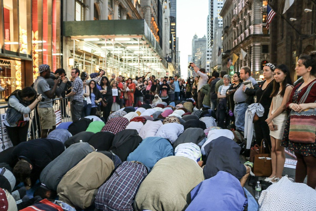 Muslims take over NYC street...