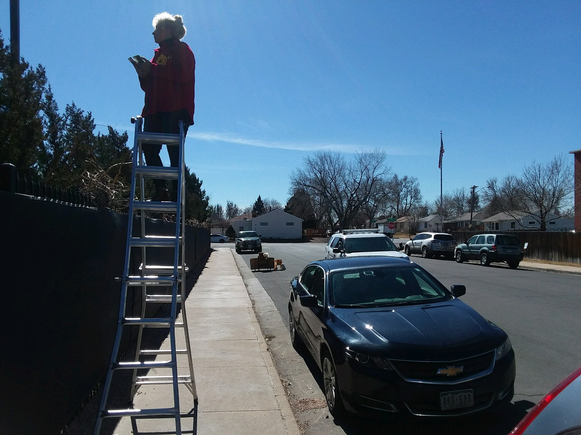The day Denver police charge abolitionist Ken Scott, Jo Scott's husband, with ladder-blocking Planned Parenthood's sidewalk