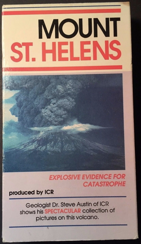 VHS tape case for Steve Austin's 1989 Mount St. Helens video