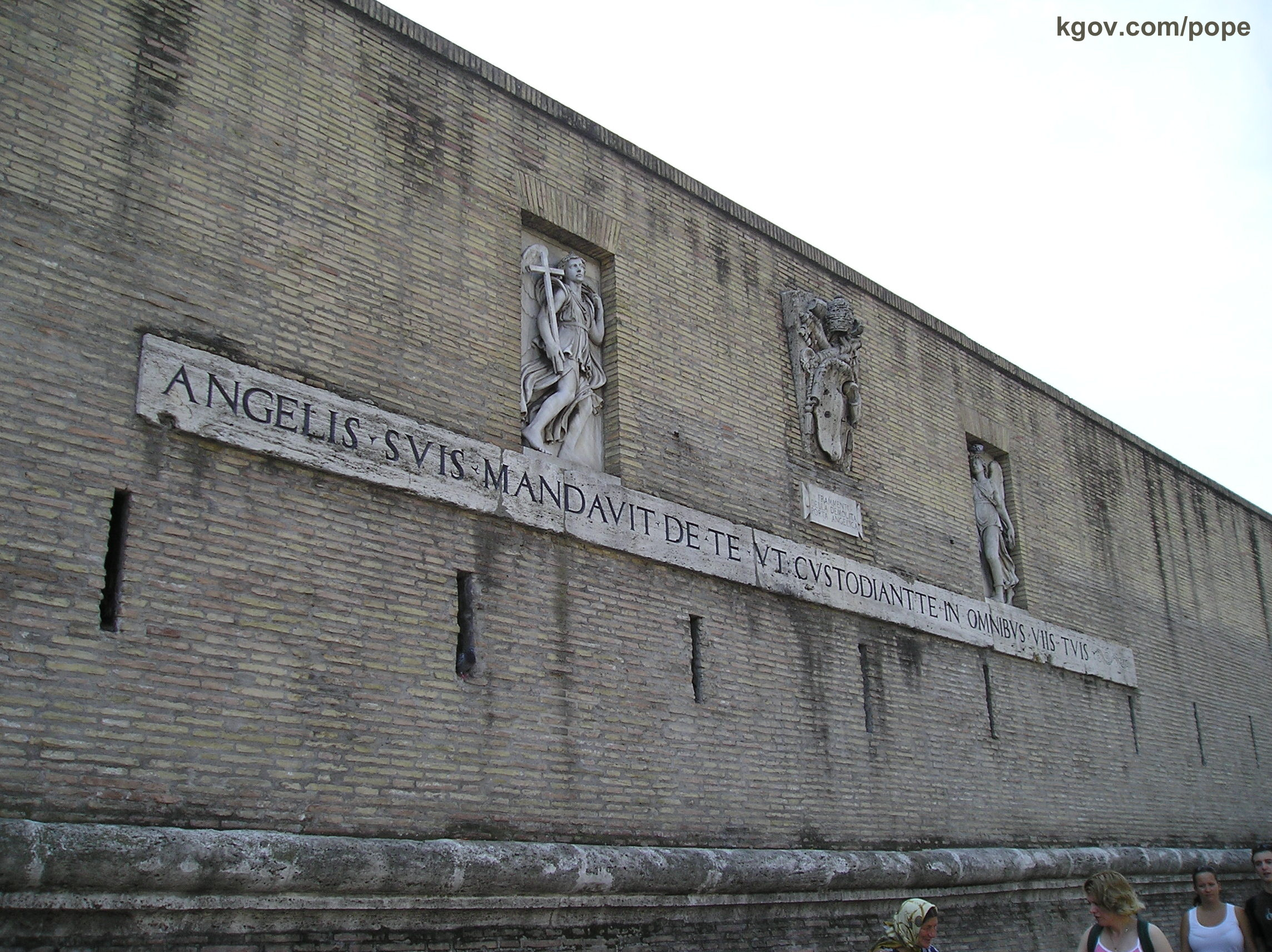 Vatican Wall keeps illegals out...