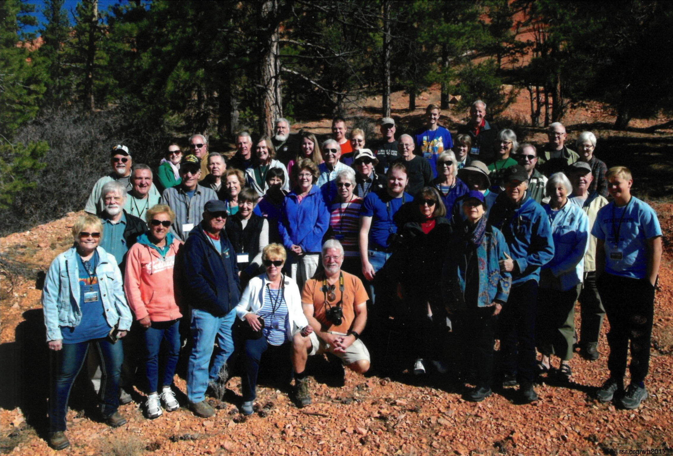 Mike Snavely's Southwest Safari 2017 group with Walt Brown and friends...